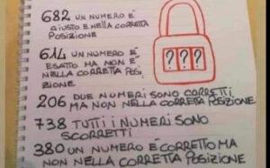 Escape school - inserisci i numeri corretti lucchetto